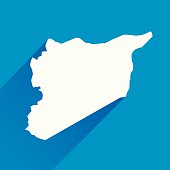 Blue Syria Map Icon