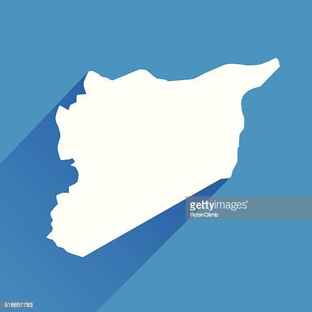 Blue Syria Map Icon