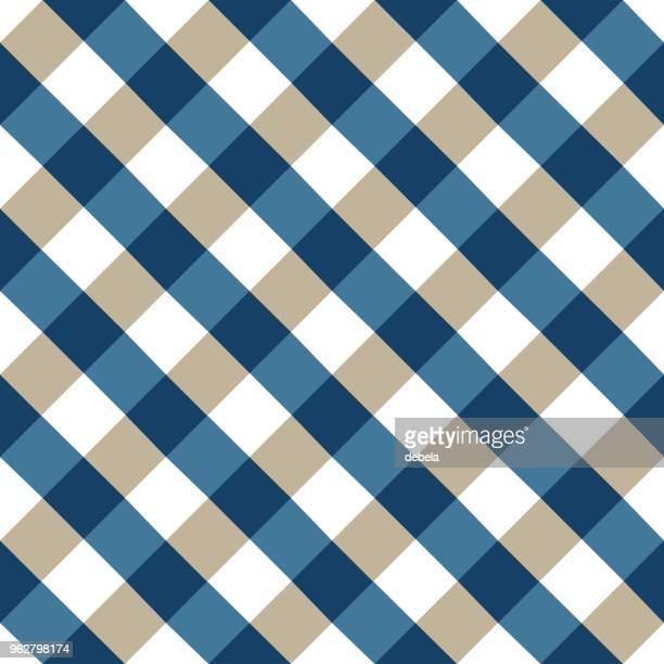 blue tablecloth argyle pattern - scottish tweed stock illustrations, clip art, cartoons, & icons