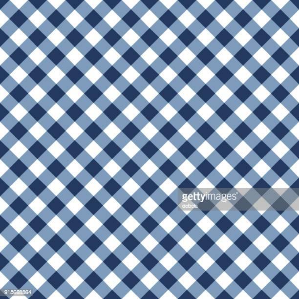 ブルーのテーブルクロス模様 - ギンガムチェック点のイラスト素材/クリップアート素材/マンガ素材/アイコン素材