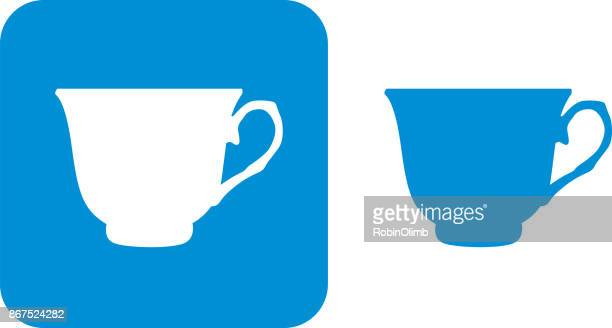 Blue Teacup Icon