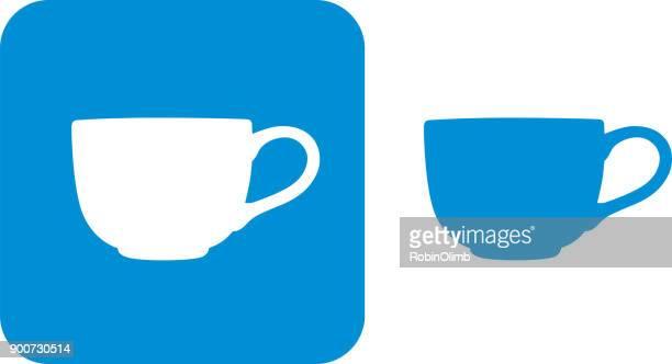 Blue Teacup Icons 6