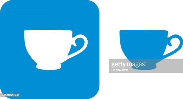 Blue Teacup Icons 7