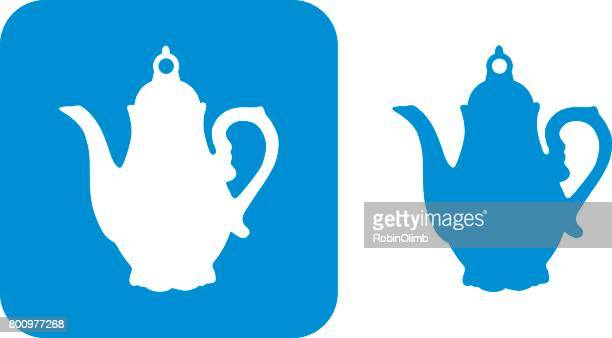blue teapot icons 3 - steeping stock illustrations, clip art, cartoons, & icons