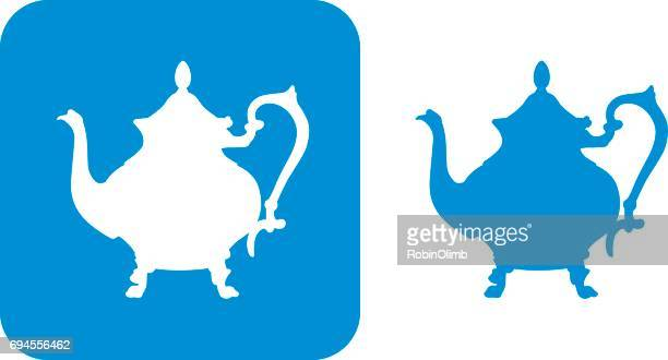 blue teapot icons - steep stock illustrations, clip art, cartoons, & icons