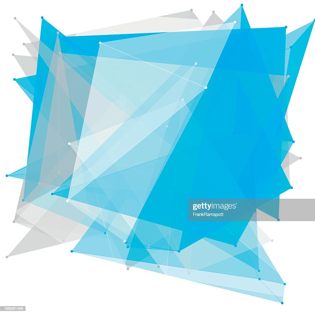 Blue Tec Polygon Pattern : Illustrationer