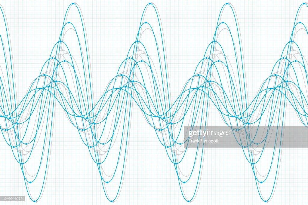 Blue tec sine wave line pattern horizontal vector art getty images blue tec sine wave line pattern horizontal vector art ccuart Images