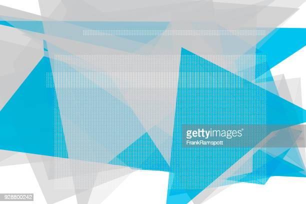 Blue Tec Vektor Polygon Design Pattern Horizontal