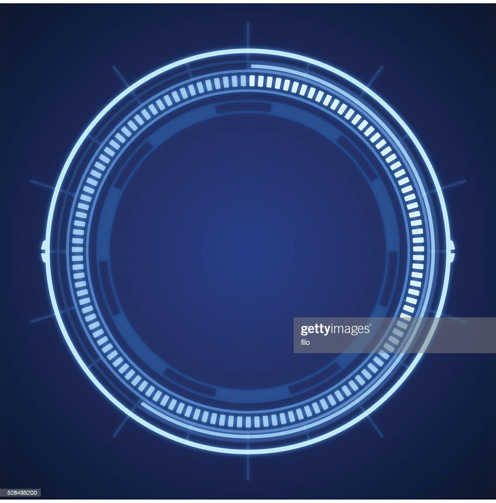 Blue Tech Circle Abstract