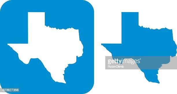 illustrations, cliparts, dessins animés et icônes de icône de bleu, au texas - texas