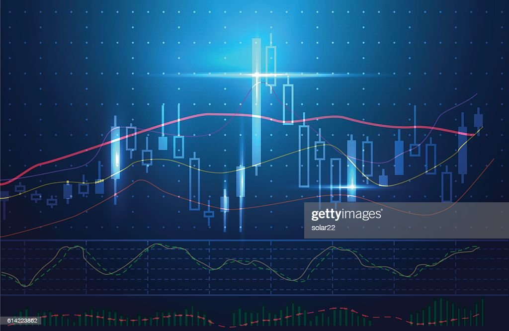 Blue theme background concept about investment in stock.