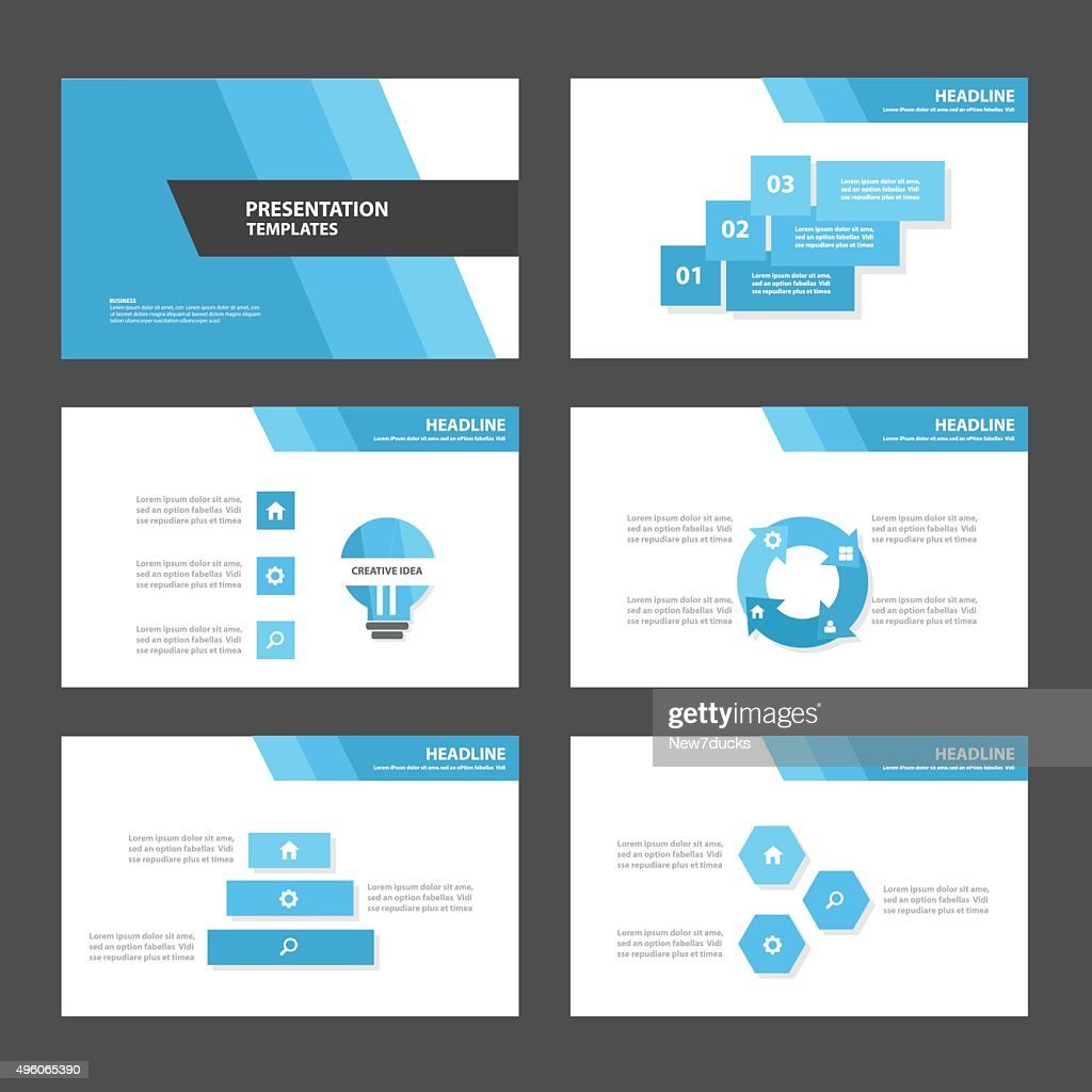 Blue theme Multipurpose Infographic elements presentation template flat design