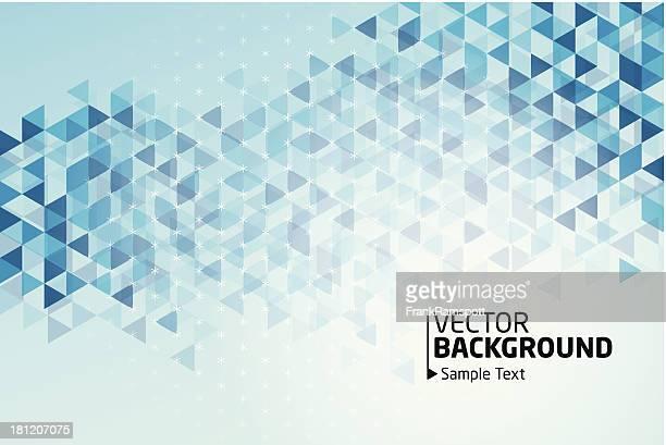 Blaues Dreieck Muster Vektor Hintergrund