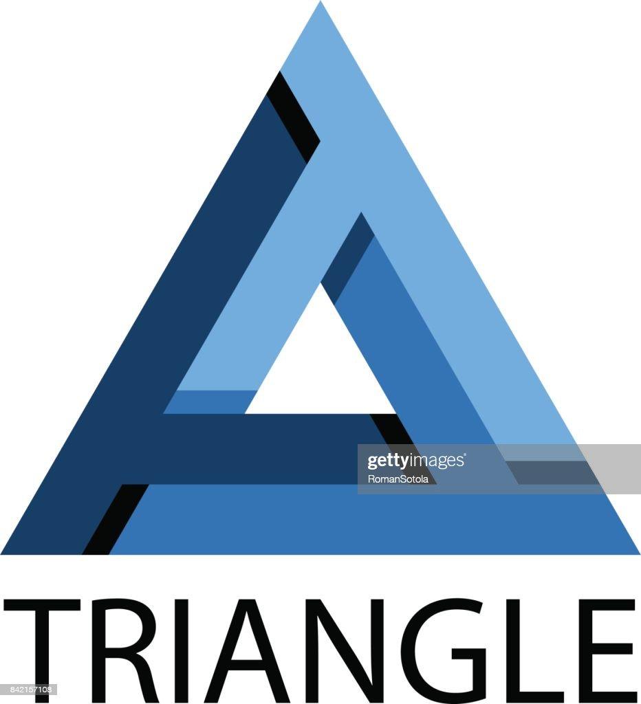 blue triangle unusual icon vector