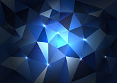 Blue Triangles Dark