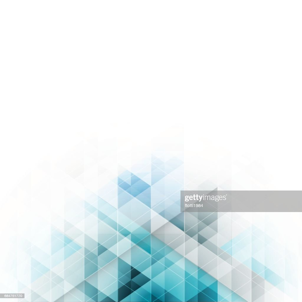 Blue triangles design. Abstract vector background with geometric pattern.
