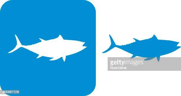 ilustraciones, imágenes clip art, dibujos animados e iconos de stock de iconos de atún azul - bonito del norte