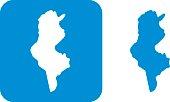 Blue Tunisia Icons