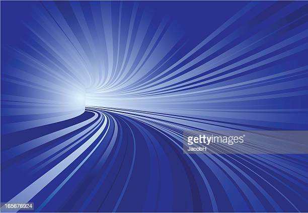 Túnel, azul