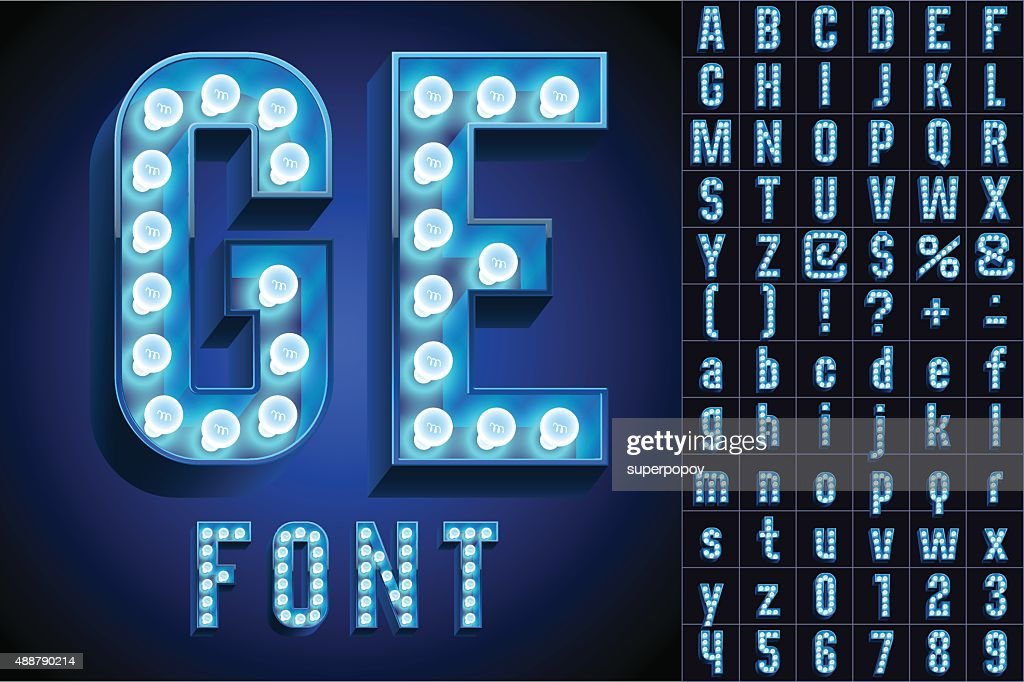 Blue ultimate realistic lamp board alphabet