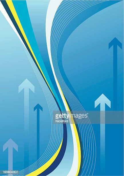 Azul fluxo para cima