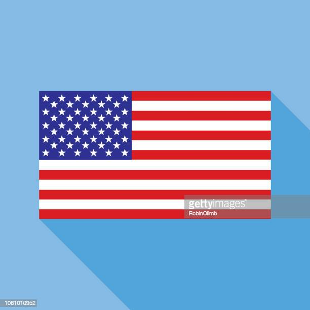 blue usa flag icon - politics and government stock illustrations