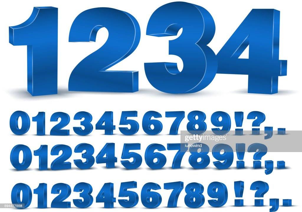 Blue vector numbers