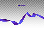 Blue vector ribbon