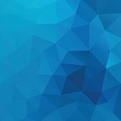 Blue vector shiny triangle background design