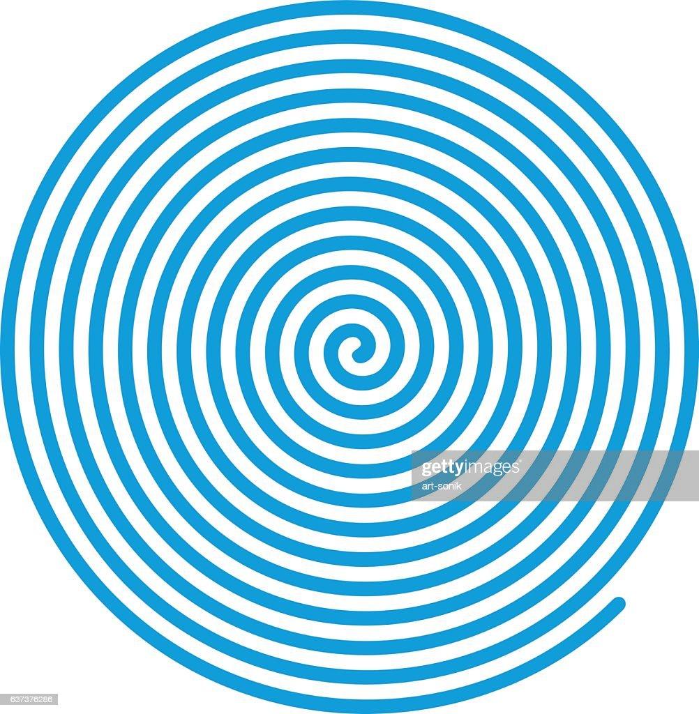 Blue vector spiral.