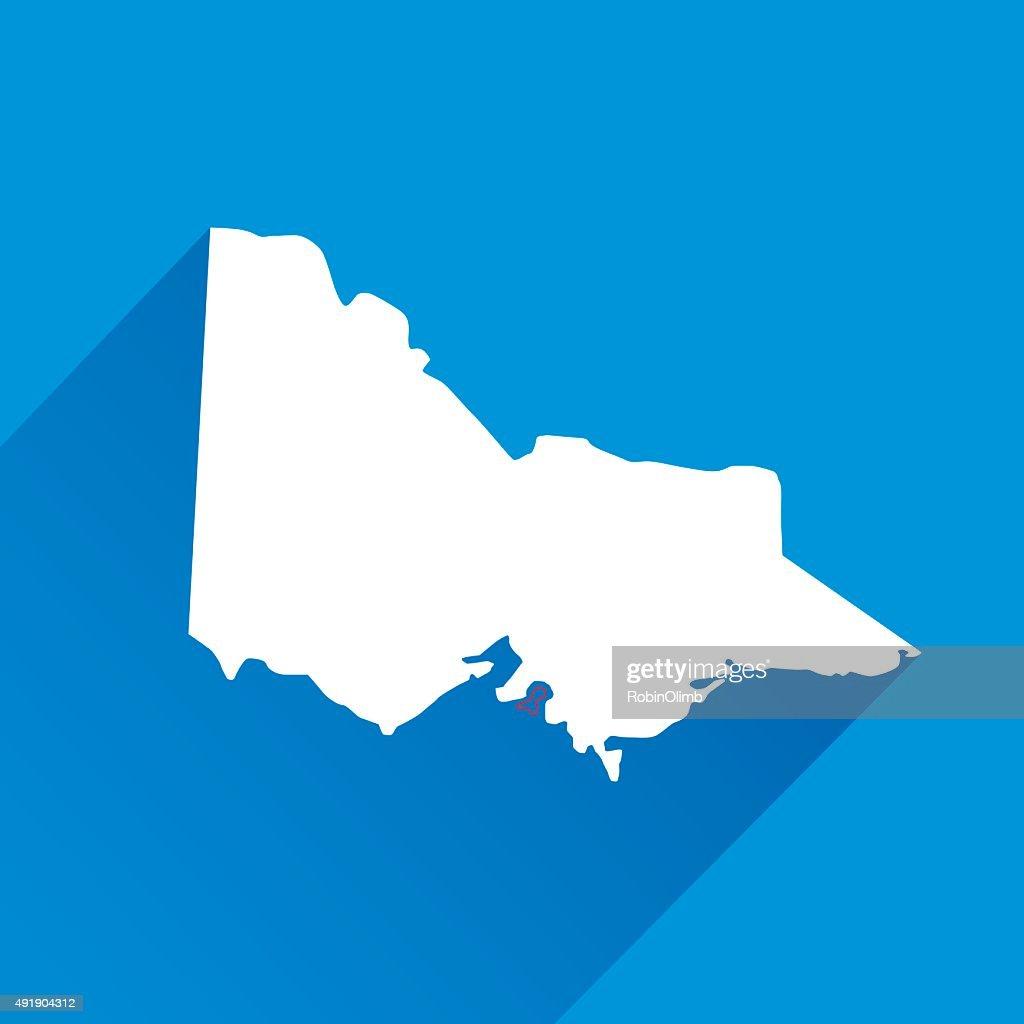 Blue Victoria Map Icon