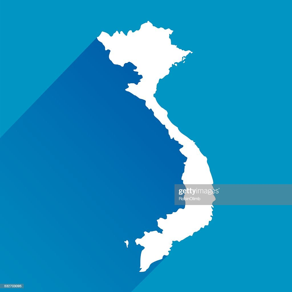 Blue Vietnam map Icon