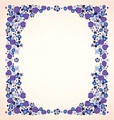 blue violet flowers frame isolated