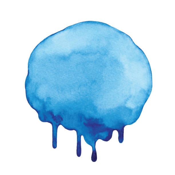 blue watercolor dripping background - melting stock illustrations