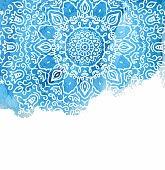 Blue watercolor paint background