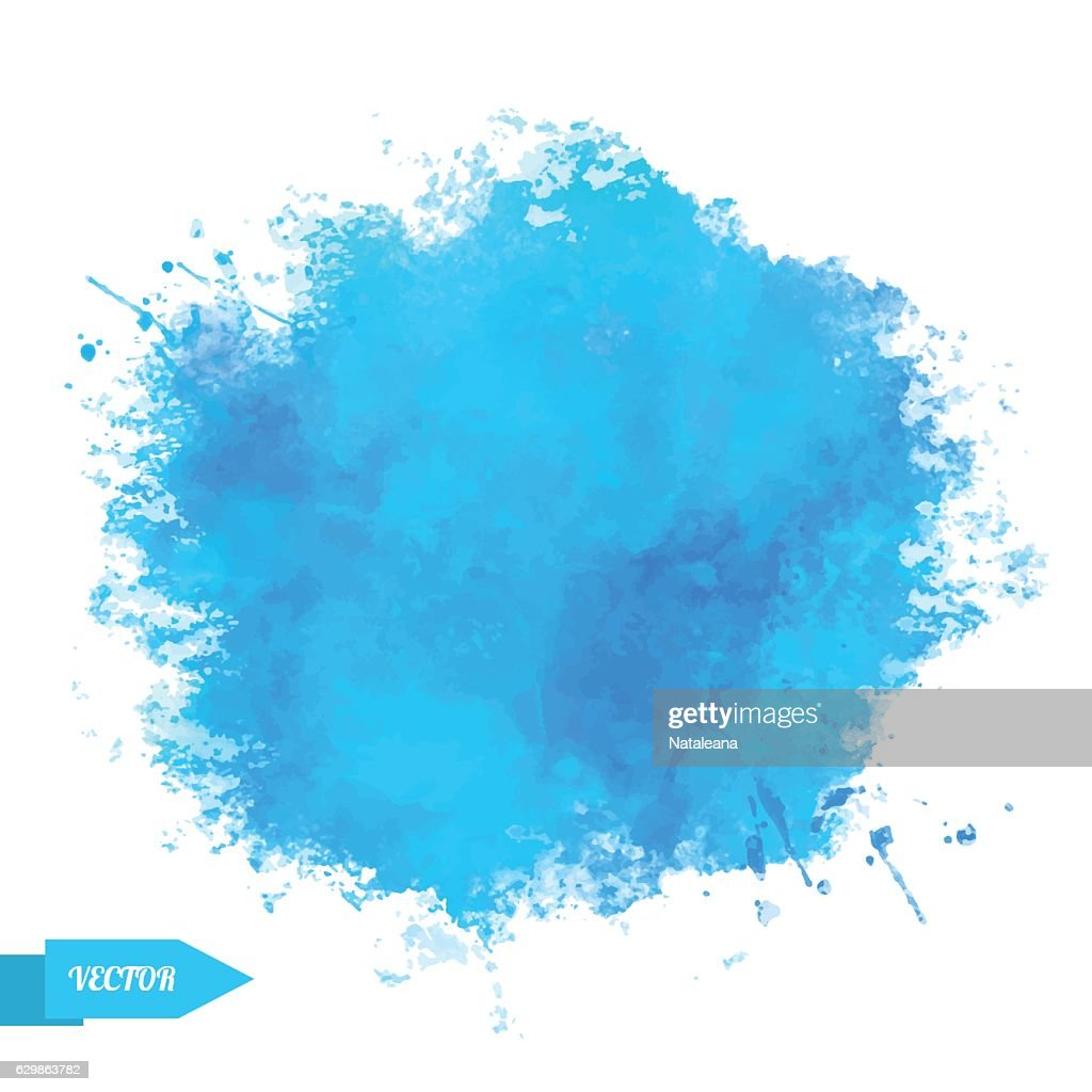 Blue watercolor pant stain