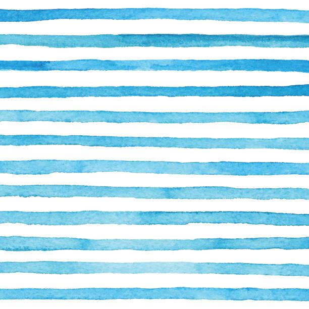 blue watercolor stripes pattern - pastel stock illustrations