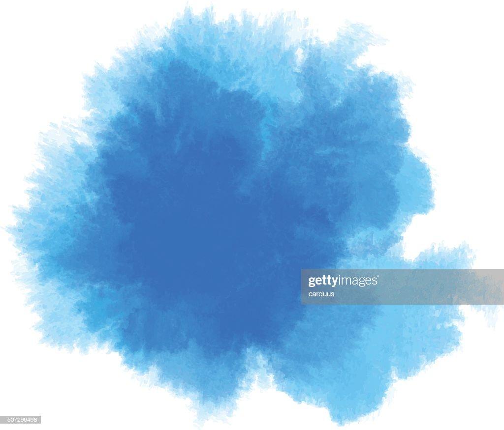 blue watercolor : stock illustration