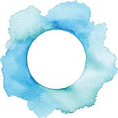 Blue Watercolor With Copyspace