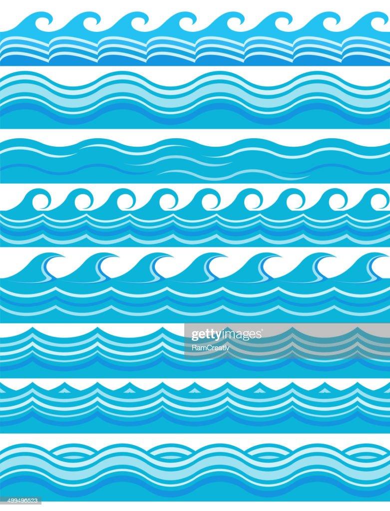 Blue wave patterns