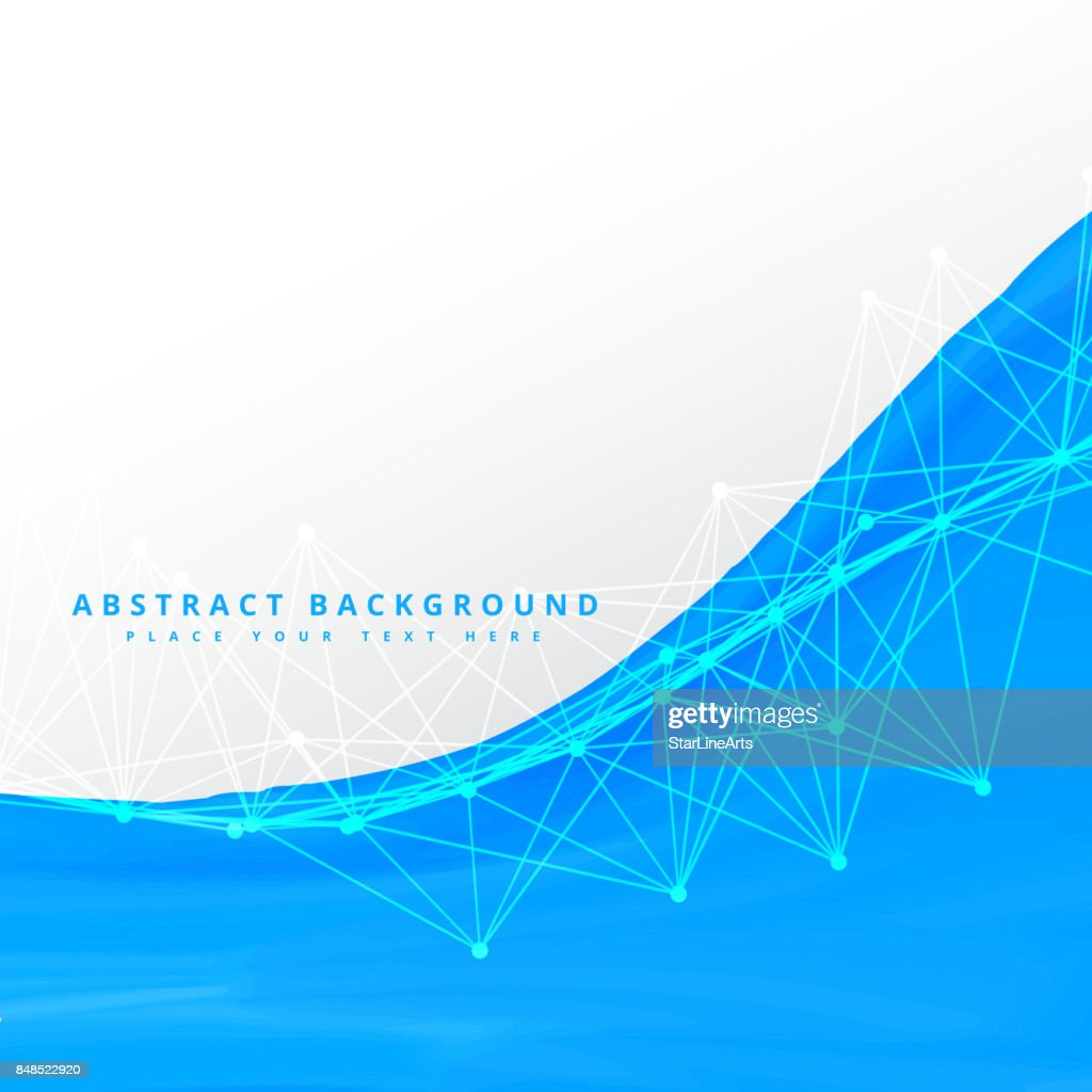 Blue Wave With Wire Mesh Vector Art | Getty Images
