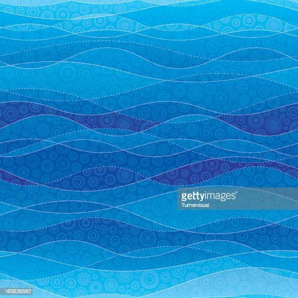 Blue Waves Abstract Background - Seamless Tile