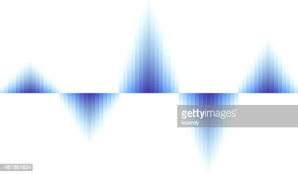 Agitant fond bleu