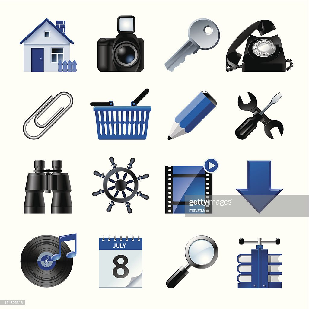 Blue website and internet icons 2