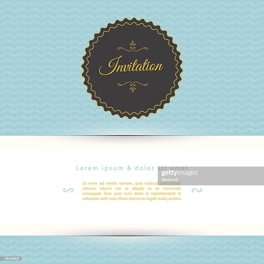 A blue white and black invitation template