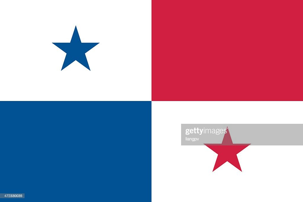 Blue, white and red flag of Panama