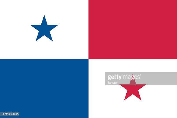 blue, white and red flag of panama - panama stock illustrations, clip art, cartoons, & icons