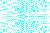 Blue white dotted halftone. Halftone vector background. Grungy vertical dotted gradient.
