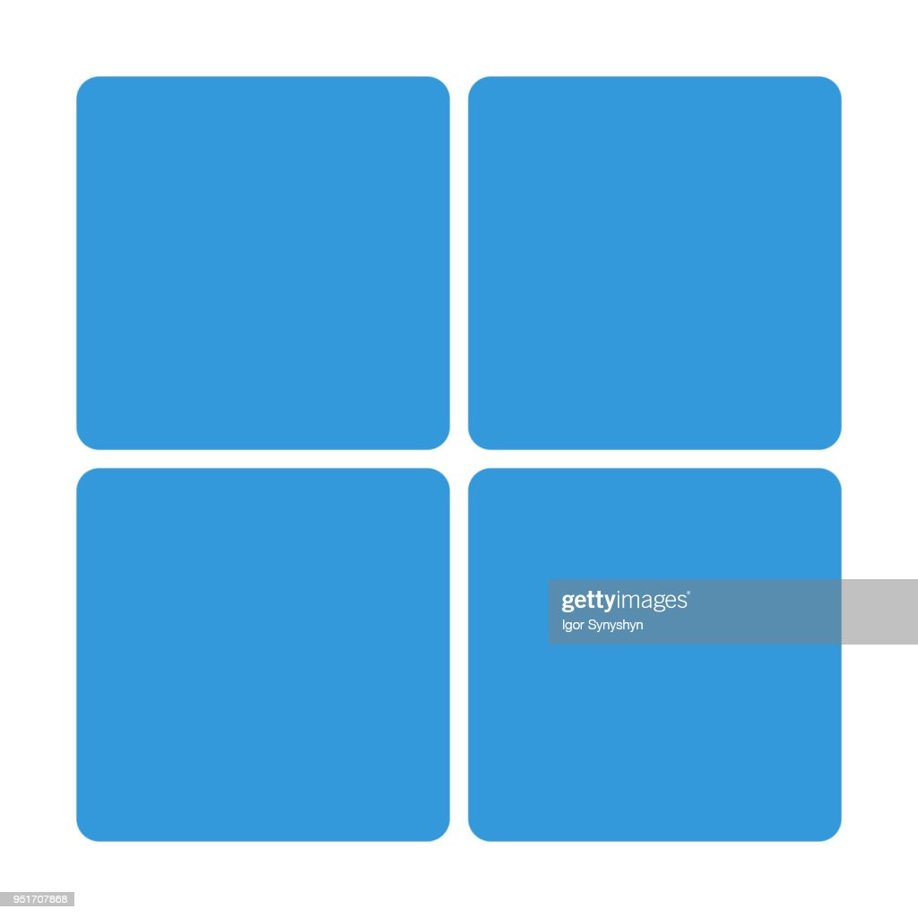 Blue Window block icon isolated on background. Modern simple flat sign. Business, internet concept. Trendy Simple vector symbol for web site design or button to mobile app. icon  illustration.