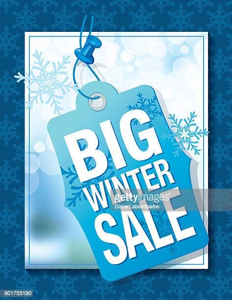 Blue Winter Sale Tag Advertisement